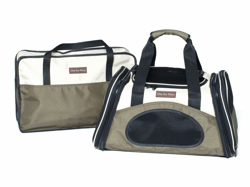The One Bag Expandable Pet Carrier Color: Olive, Size: Large (11.5