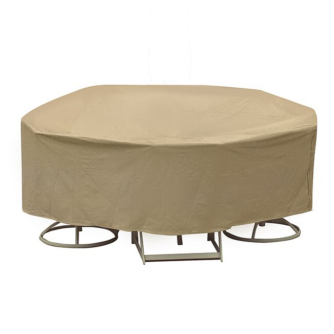 Round Table and High Back Chair Cover Size: 30