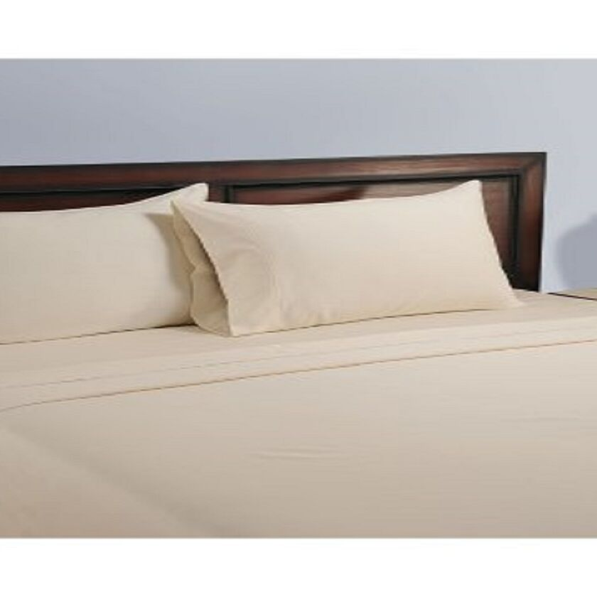 325 Thread Count 100% Cotton Sheet Set Color: Shell, Size: Full