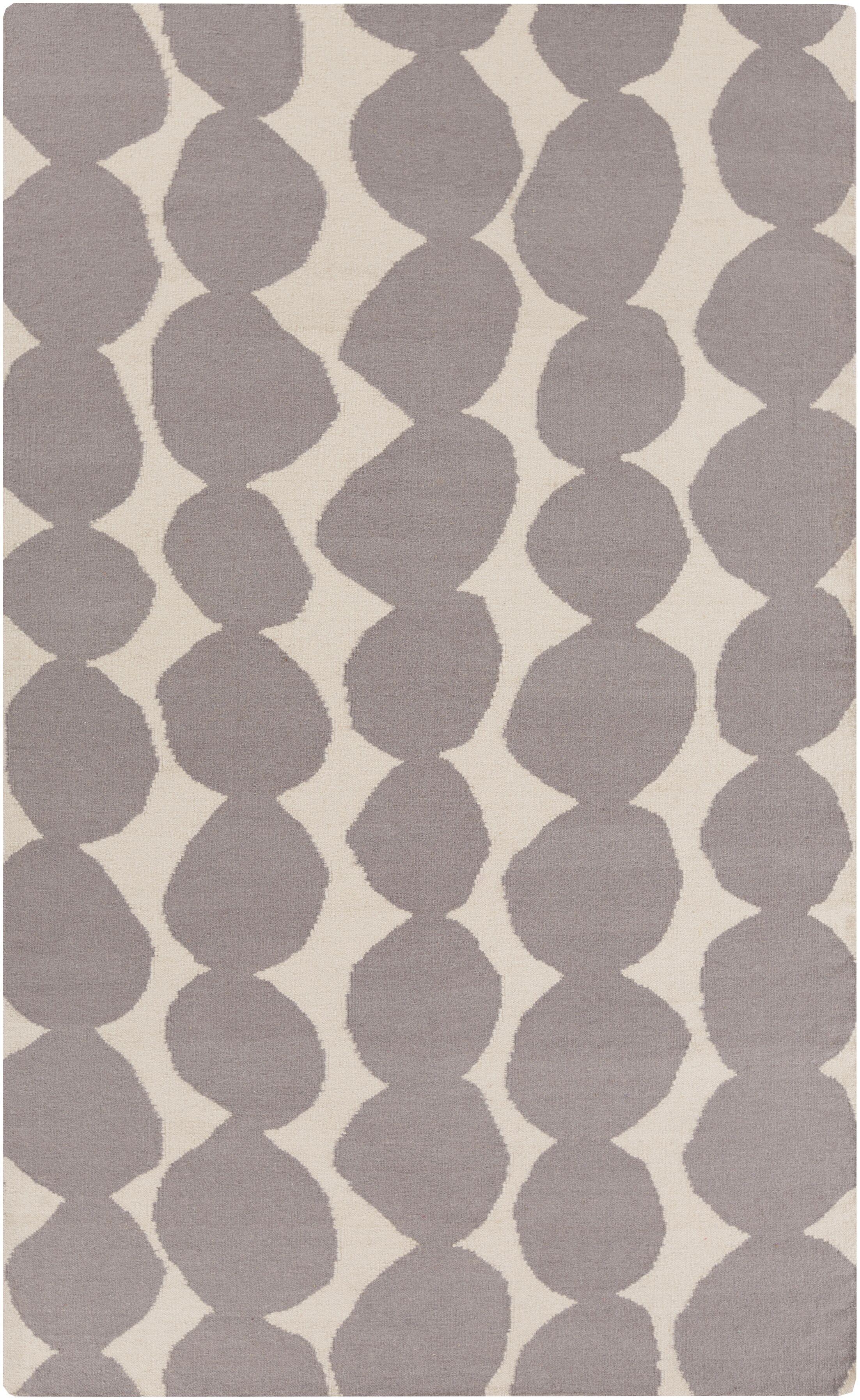 Textila Hand Woven Wool Gray Area Rug Rug Size: Rectangle 5' x 8'