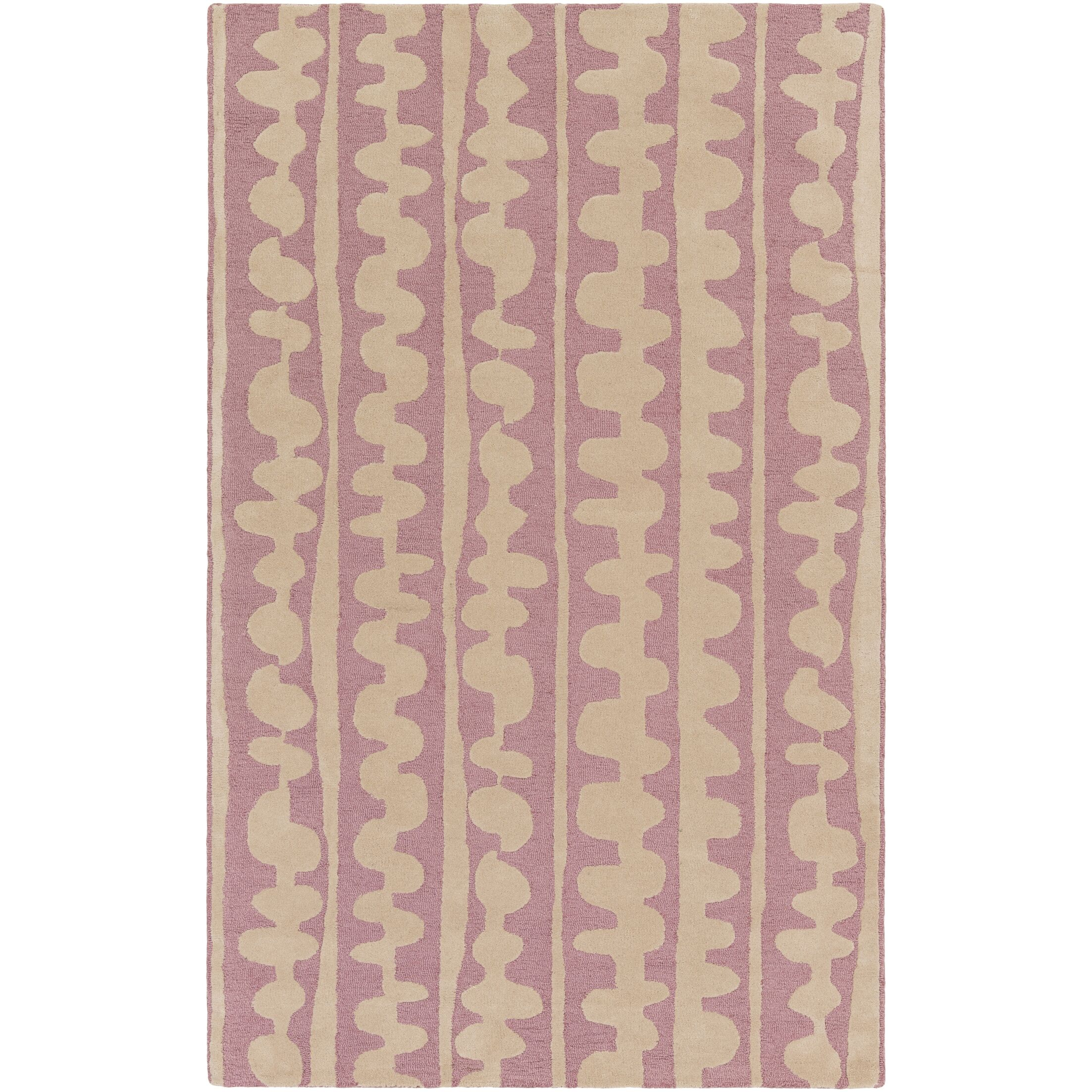 Decorativa Hand-Tufted Pink/Neutral Area Rug Rug Size: Rectangle 3'3