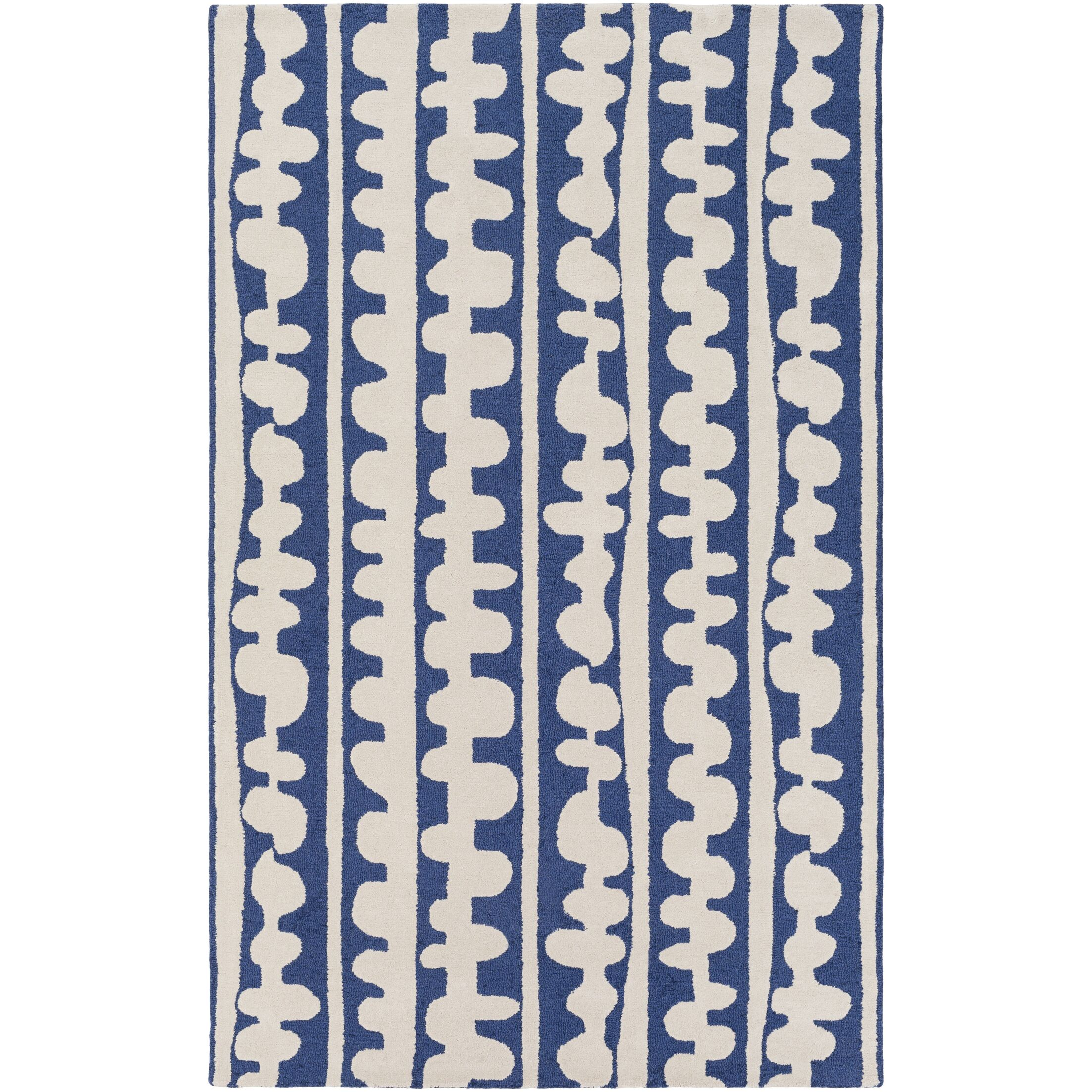 Decorativa Hand-Tufted Blue/Neutral Area Rug Rug Size: Rectangle 3'3