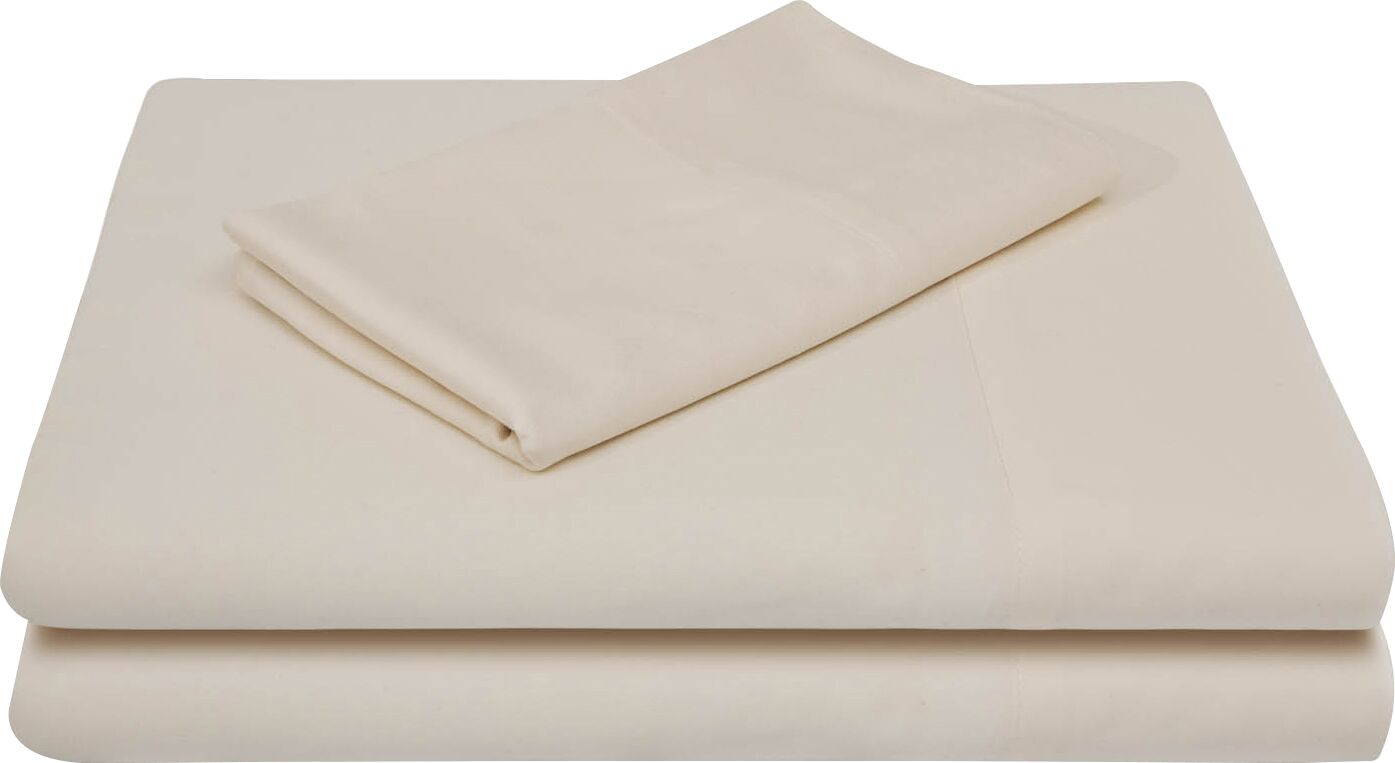 Rayon from Bamboo Bed Sheet Set Color: Ivory, Size: California King