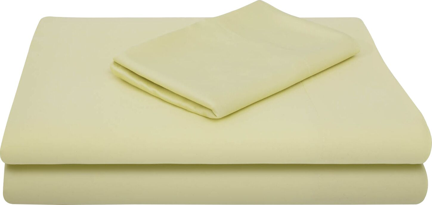 Rayon from Bamboo Bed Sheet Set Size: Split King, Color: Citron