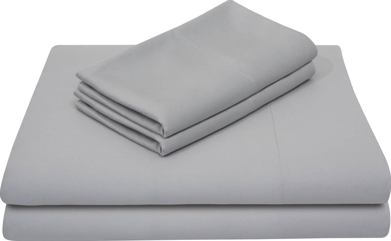 Rayon from Bamboo Bed Sheet Set Color: Ash, Size: California King