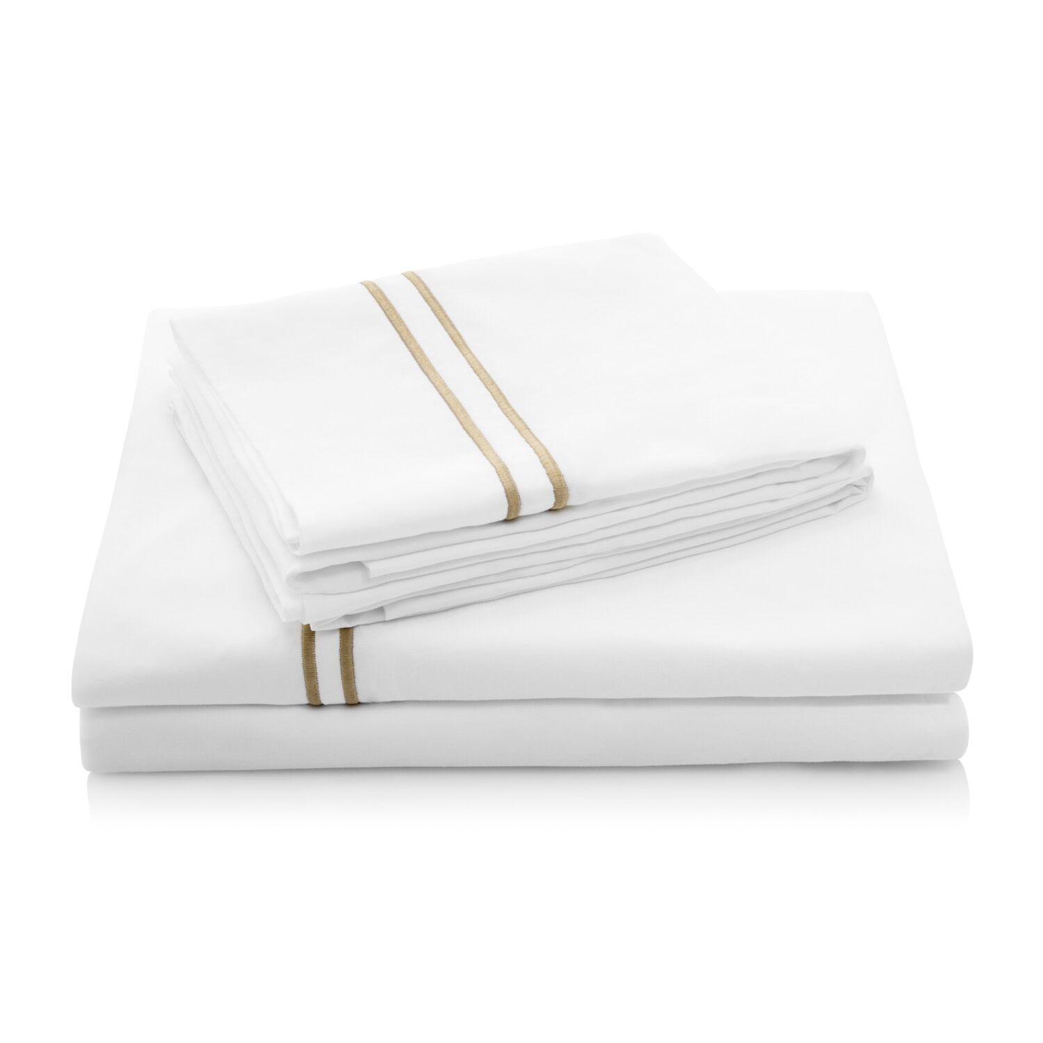 200 Thread Count Percale Bed Sheet Set Color: Khaki, Size: Full