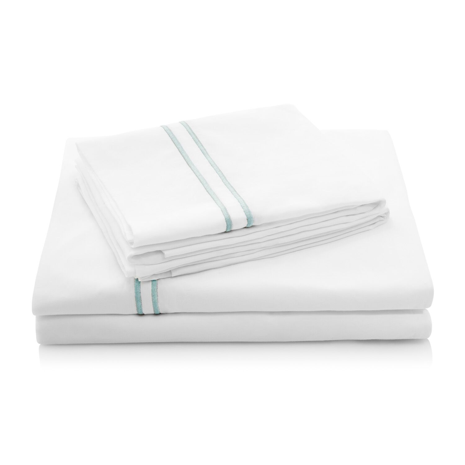 200 Thread Count Percale Bed Sheet Set Color: Silver Sage, Size: Full