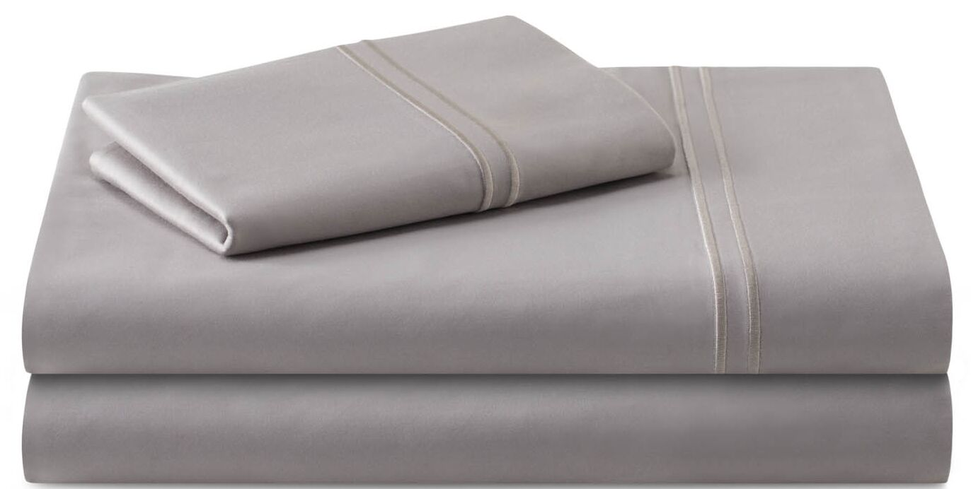 Cateline 600 Thread Count Premium Cotton Fitted Sheets Set Color: Flax, Size: California King