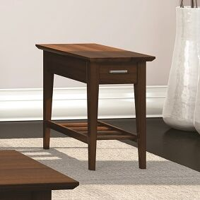 Currents Collection Chairside Table With Drawer Color: Burnt Sugar