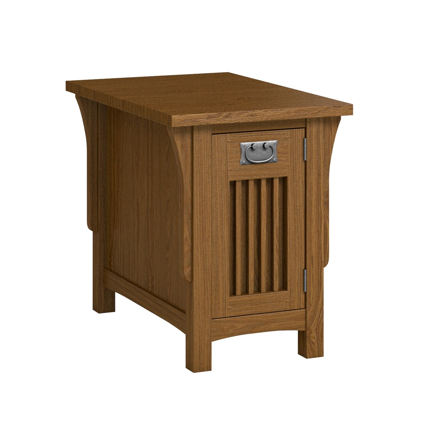 FLW Chairside Table With Drawer Color: Mission