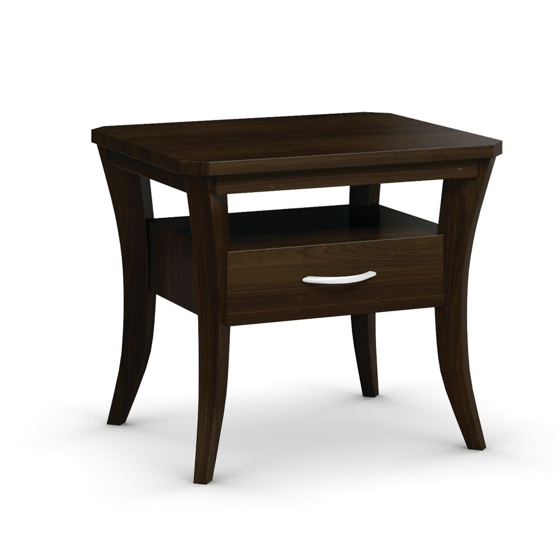Cosmo End Table With Drawer Color: Coffee