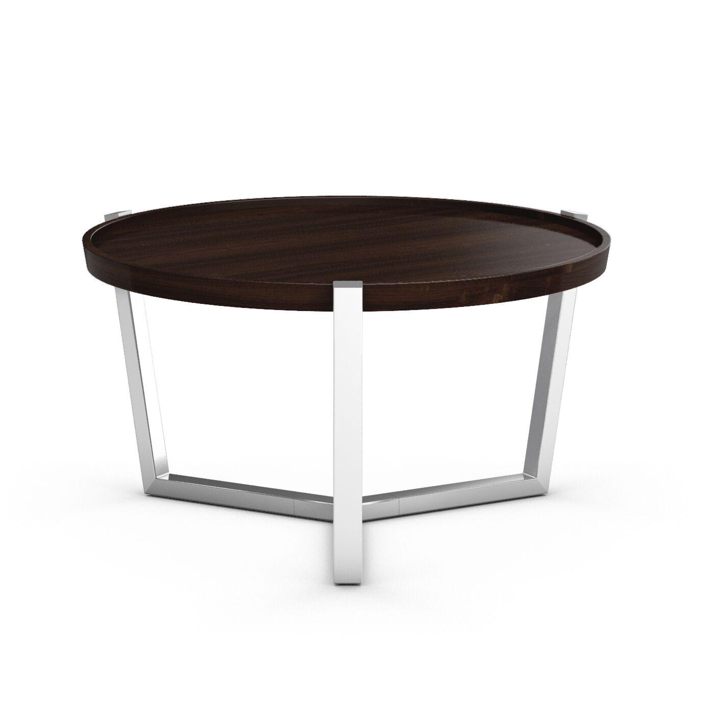 Cirque Condo Coffee Table with Tray Top Color: Coffee