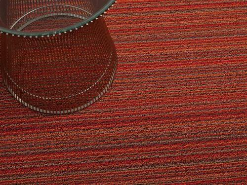 Skinny Stripe Shag Doormat Mat Size: Rectangle 3' x 5', Color: Orange
