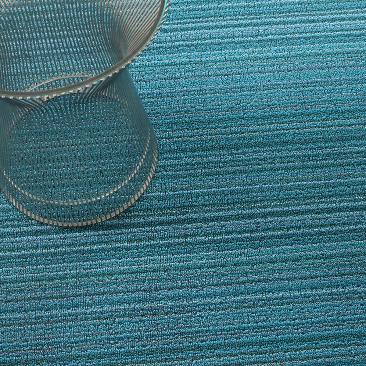 Skinny Stripe Shag Doormat Mat Size: Runner 2' x 6'