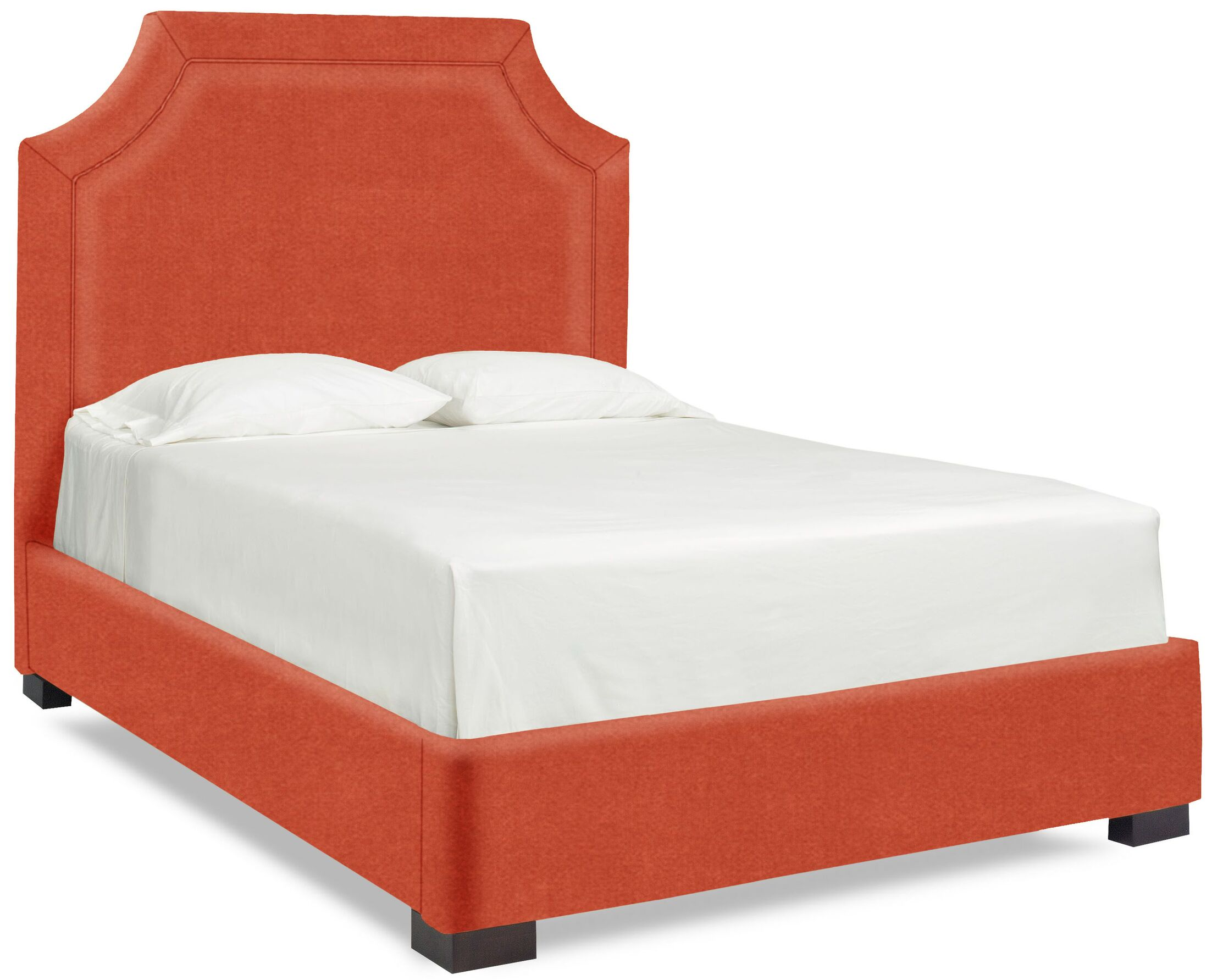 Dreamtime Upholstered Panel Bed Color: Tangelo, Size: Queen