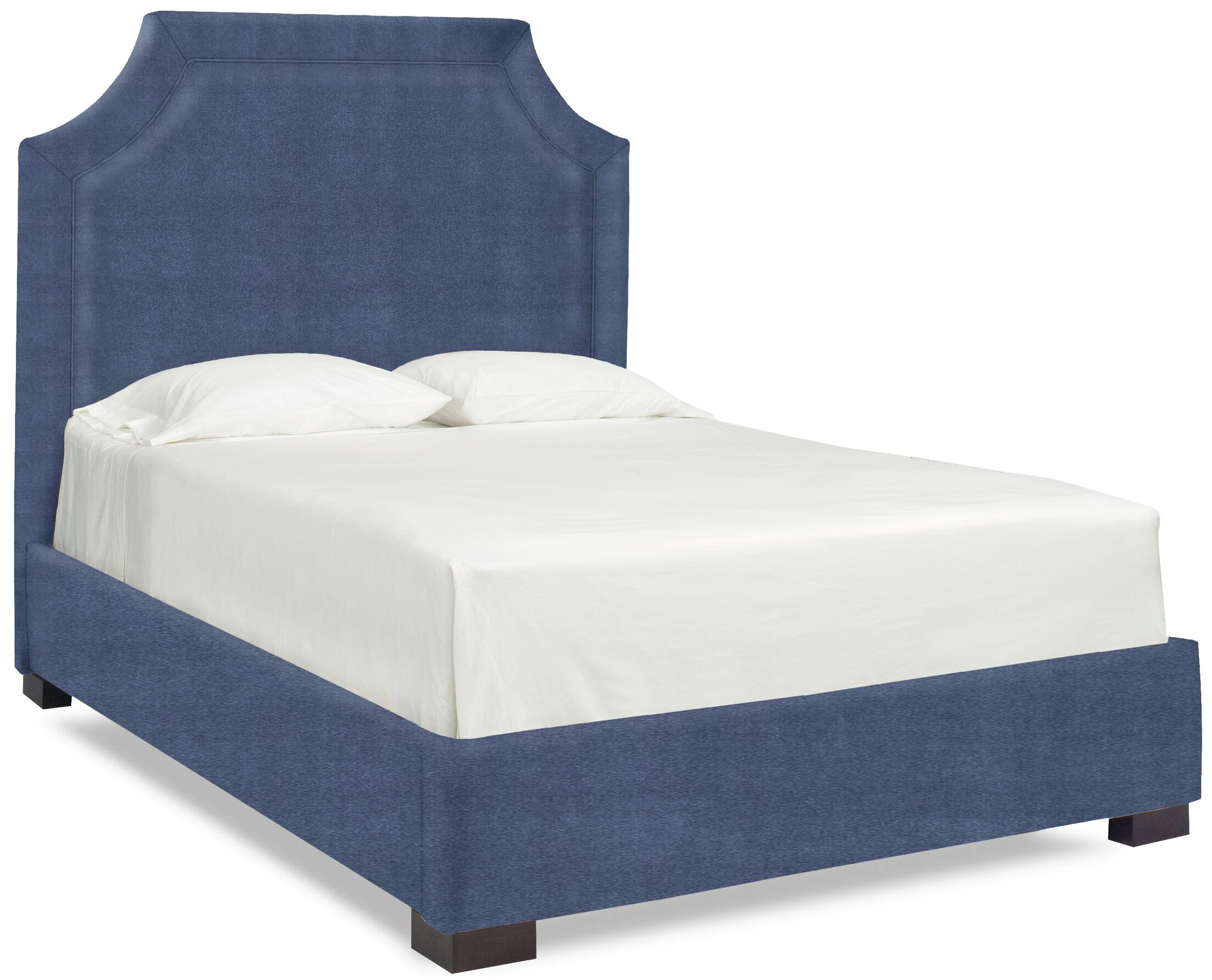 Dreamtime Upholstered Panel Bed Color: Navy, Size: Queen