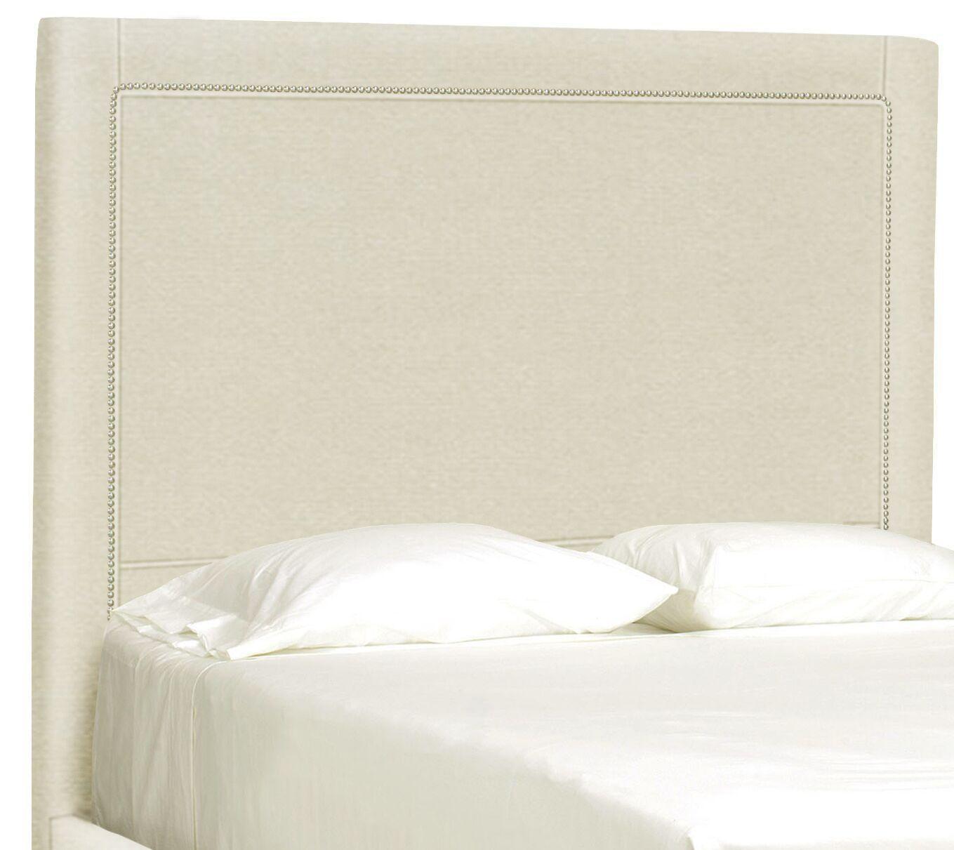 Dreamtime Upholstered Panel Headboard Size: Full, Upholstery: Cream