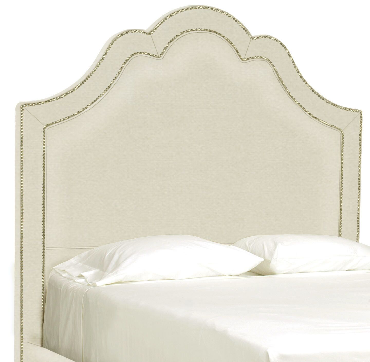 Dreamtime Upholstered Panel Headboard Upholstery: Cream, Size: Queen
