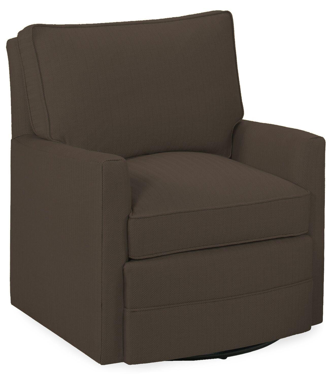 Sawyerl Glider Swivel Armchair Upholstery: Truffle