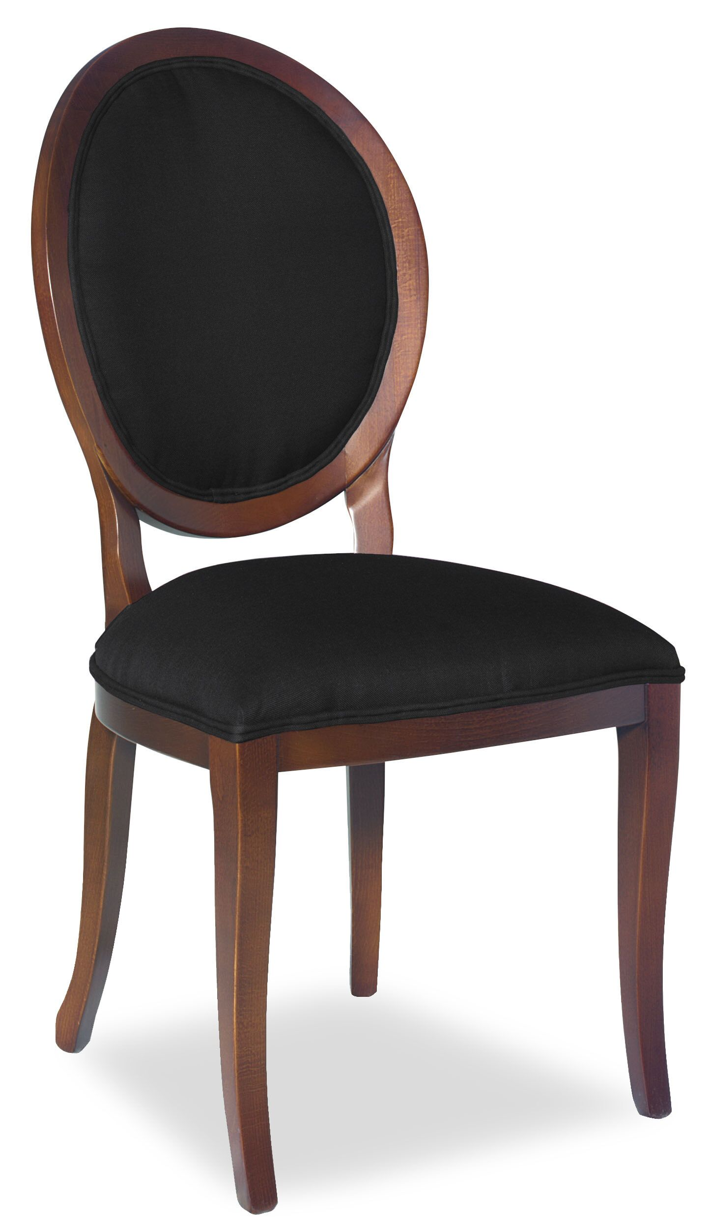 Divine Kayla Side Chair Upholstery: Found Black