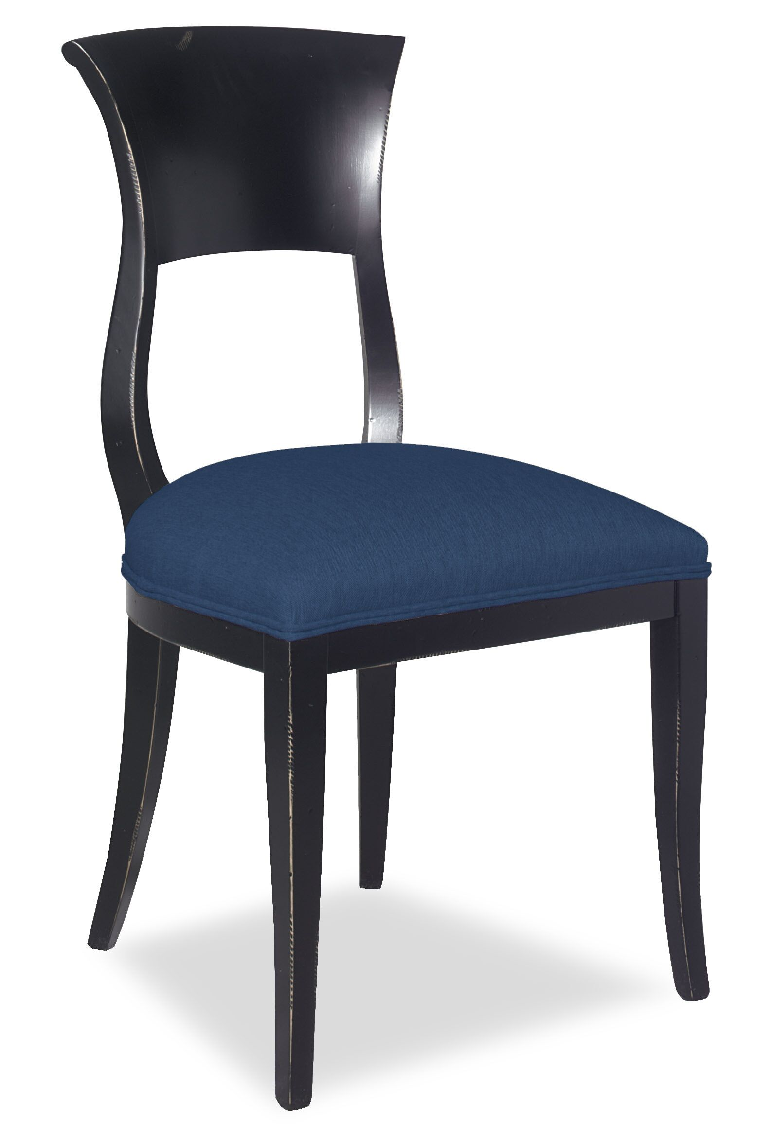 Divine Aaron Upholstered Dining Chair Upholstery Color: Me Navy