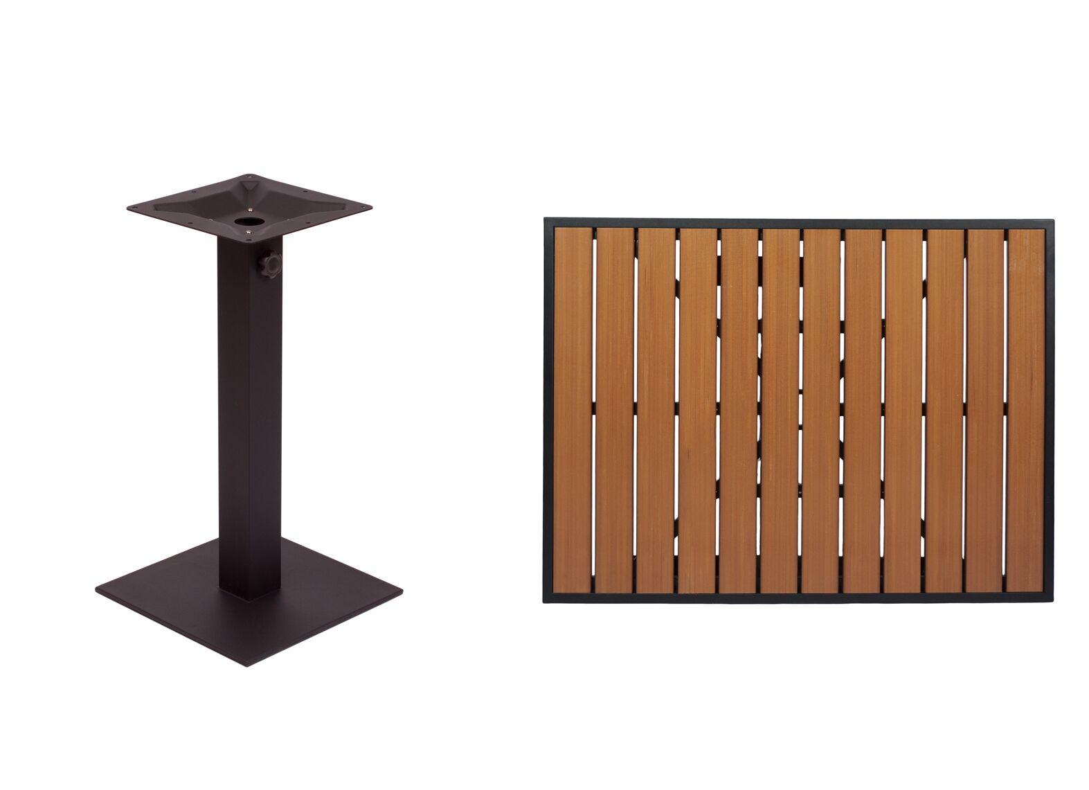 Longport Teak Dining Table Color: Black, Table Height: 42