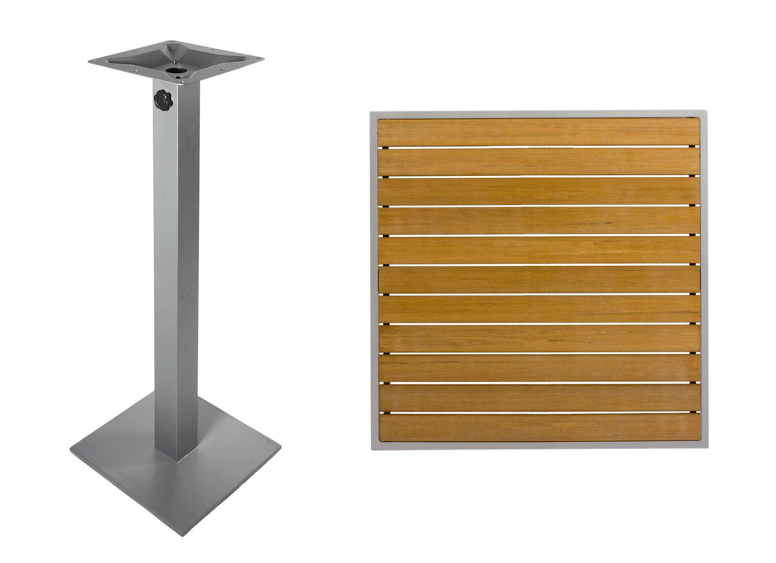 Avalon Teak Bar Table Color: Silver, Table Size: 36