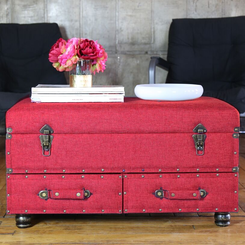 Cesare Coffee Table Color: Red