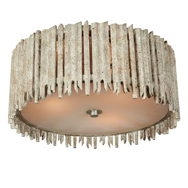 Crown and Glory Flush Mount Fixture Finish: Distressed White, Size: 7.13