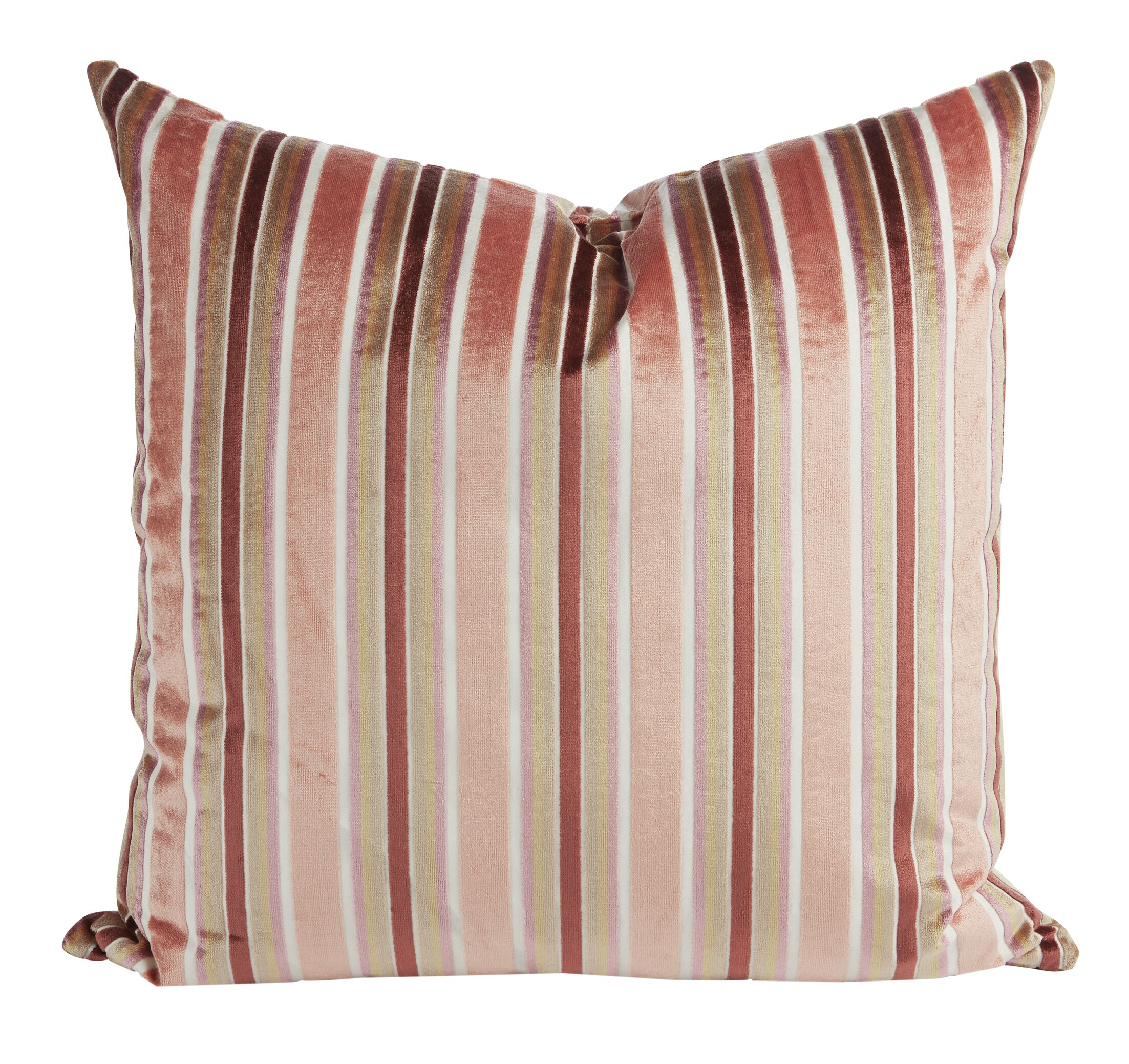Rose Velvet Throw Pillow (Set of 2)