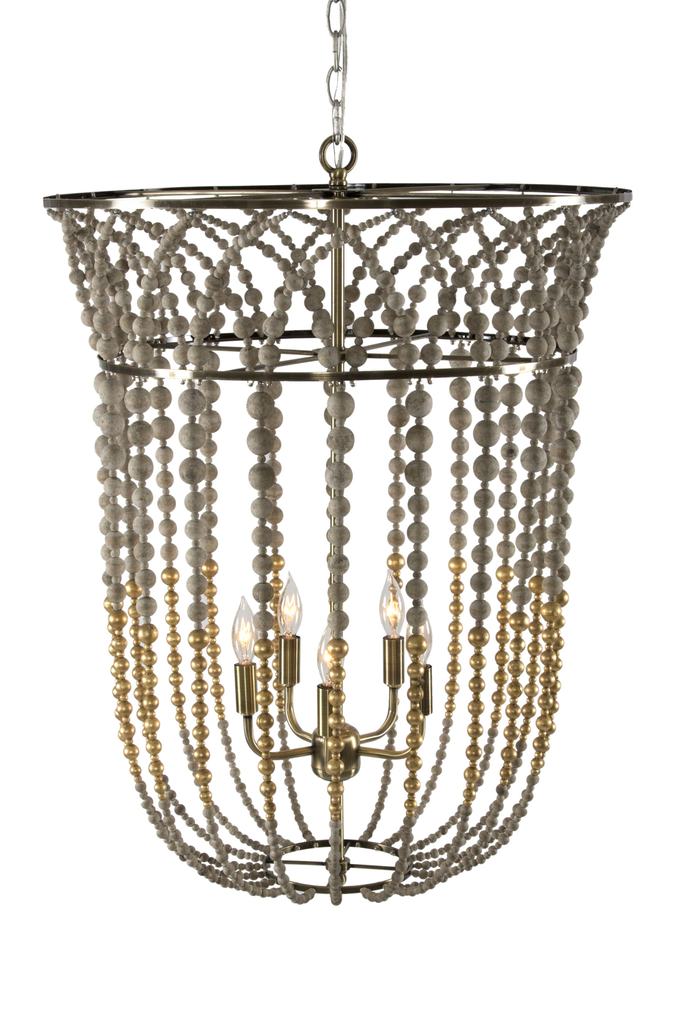 Flared Bell Urn Pendant Finish: Gold/Gray