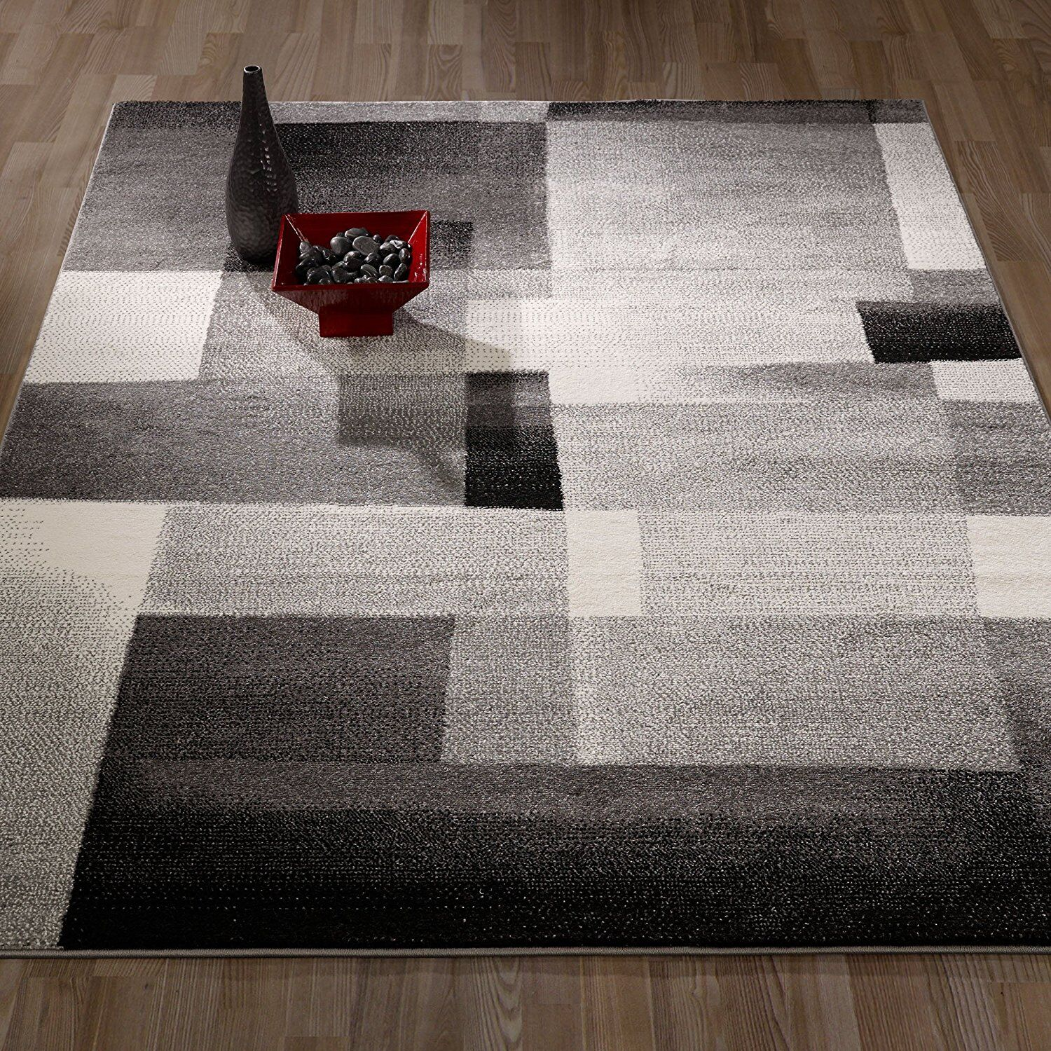 Thrower Geometric/Abstract Tiles Gray Area Rug