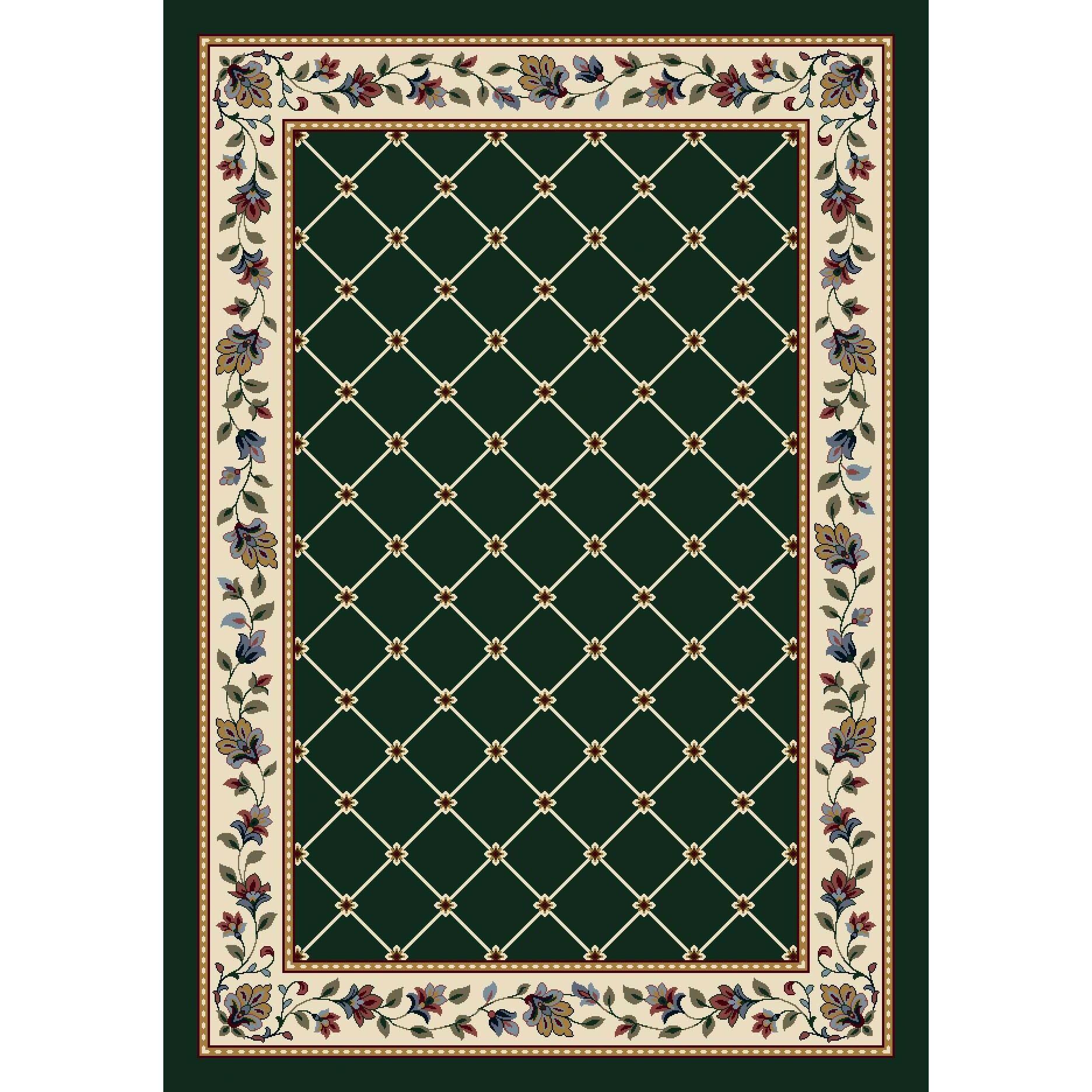 Signature Symphony Emerald Area Rug Rug Size: Rectangle 10'9