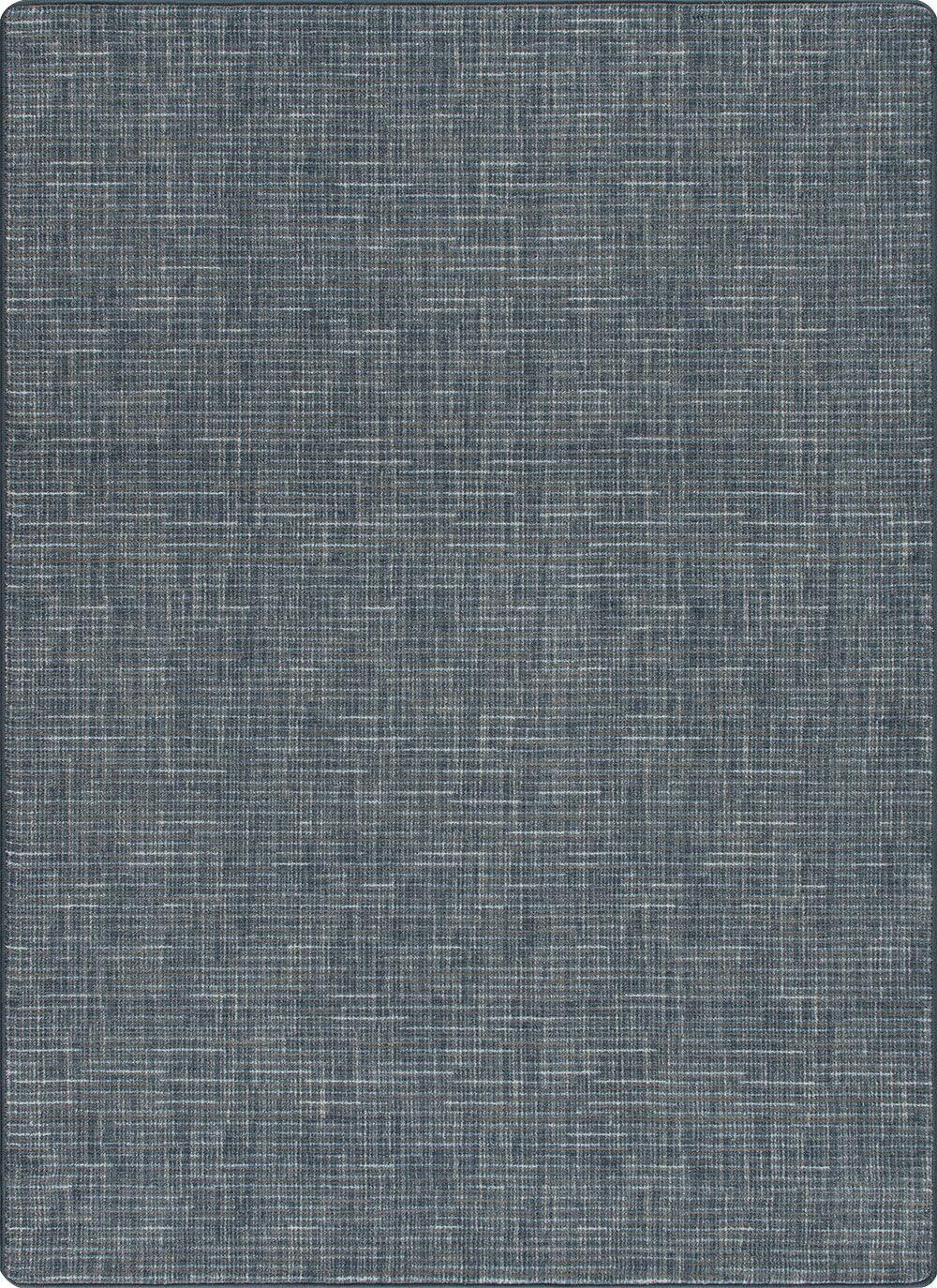 Risborough Broadcloth Brushed Denim Area Rug Rug Size: Rectangle 5'3