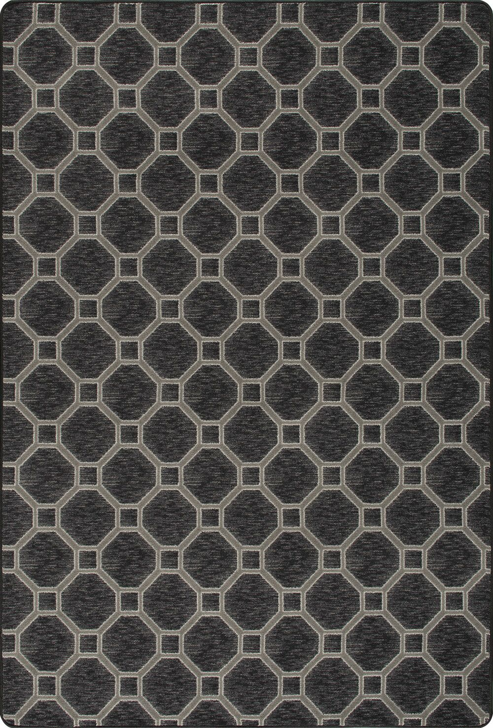 Hagar Black Area Rug Rug Size: Rectangle 2'1