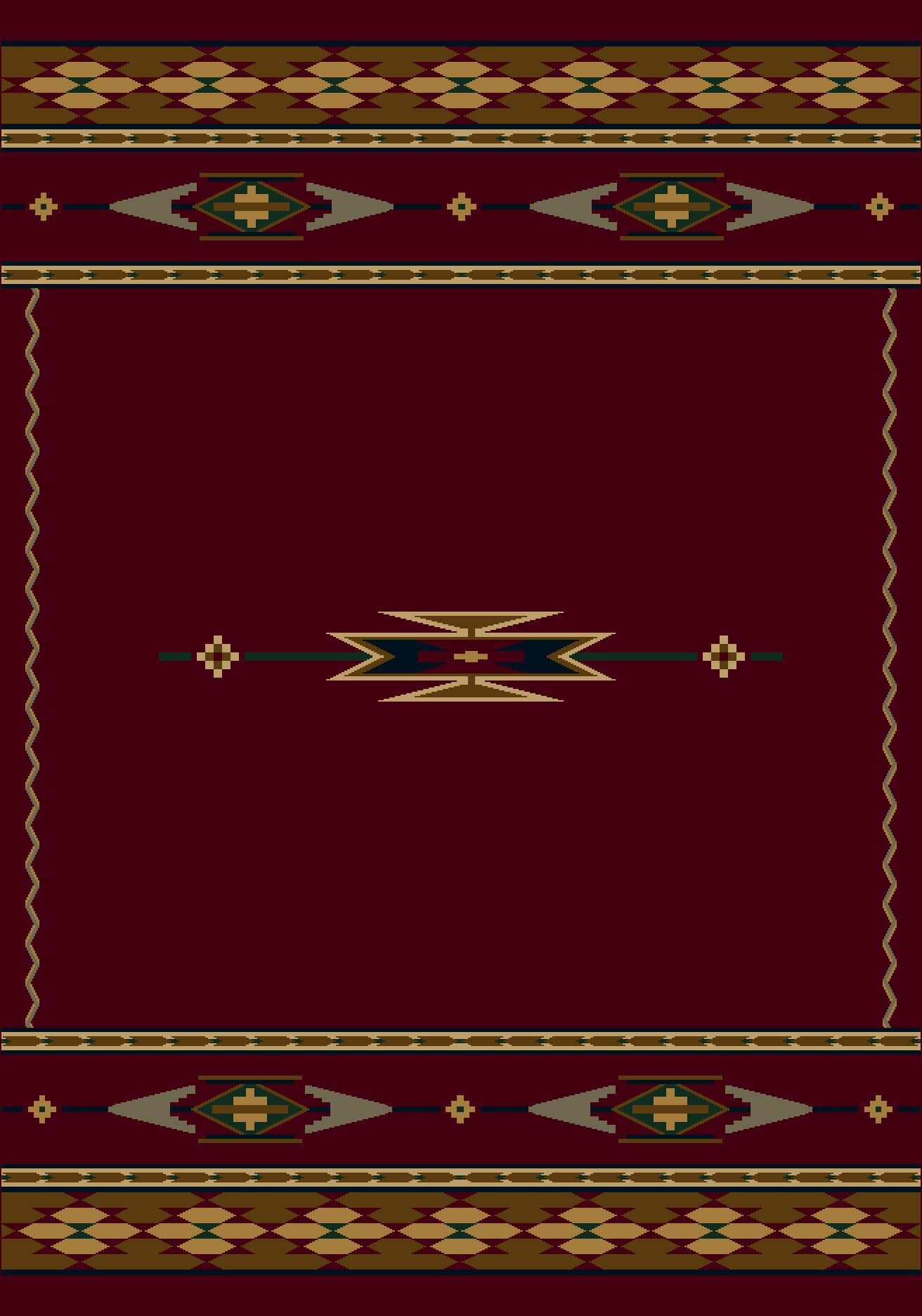 Signature Eagle Canyon Garnet Area Rug Rug Size: Rectangle 7'8