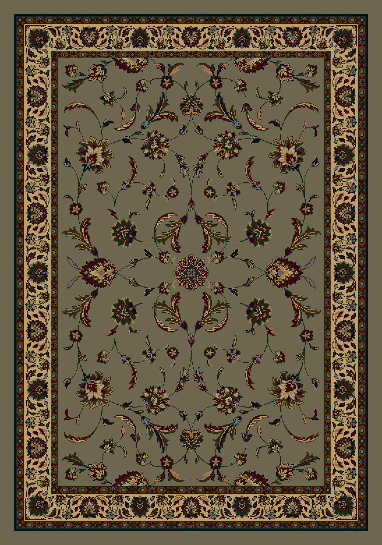 Signature Isfahan Sage Area Rug Rug Size: Rectangle 7'8