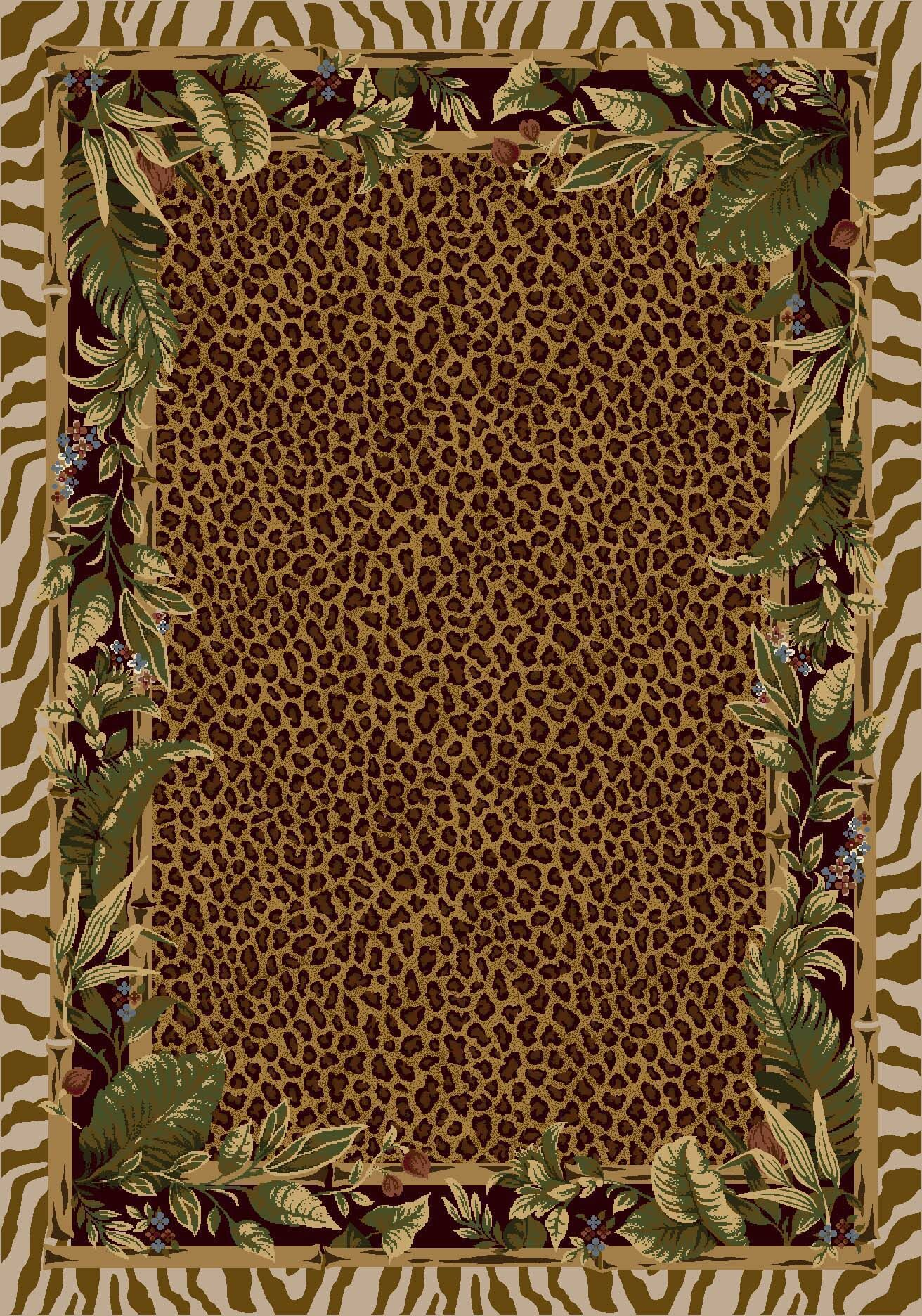 Signature Jungle Safari Pearl Mist Area Rug Rug Size: Rectangle 3'10