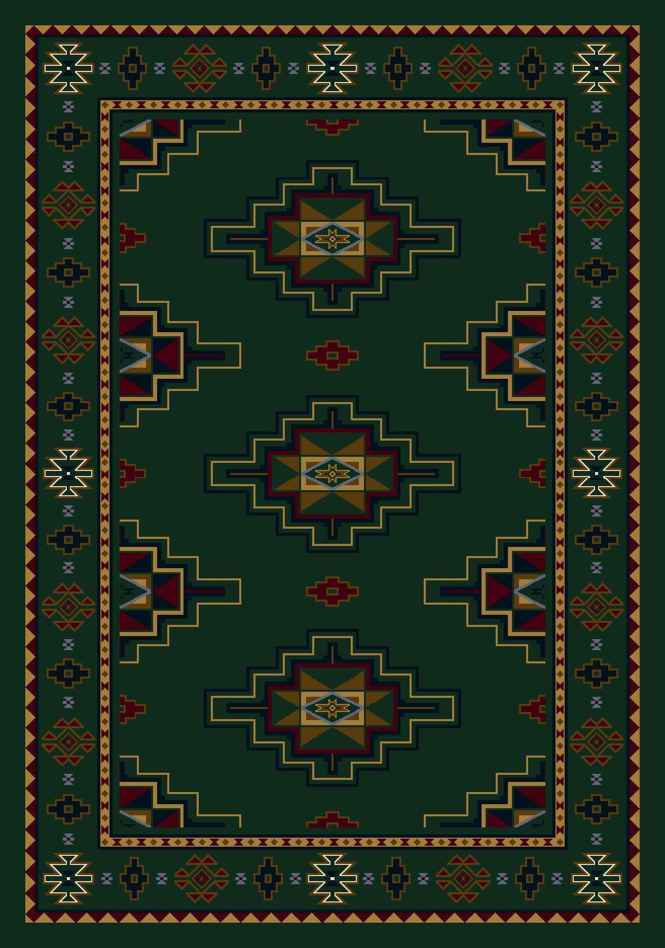 Signature Prairie Star Emerald Area Rug Rug Size: Rectangle 7'8