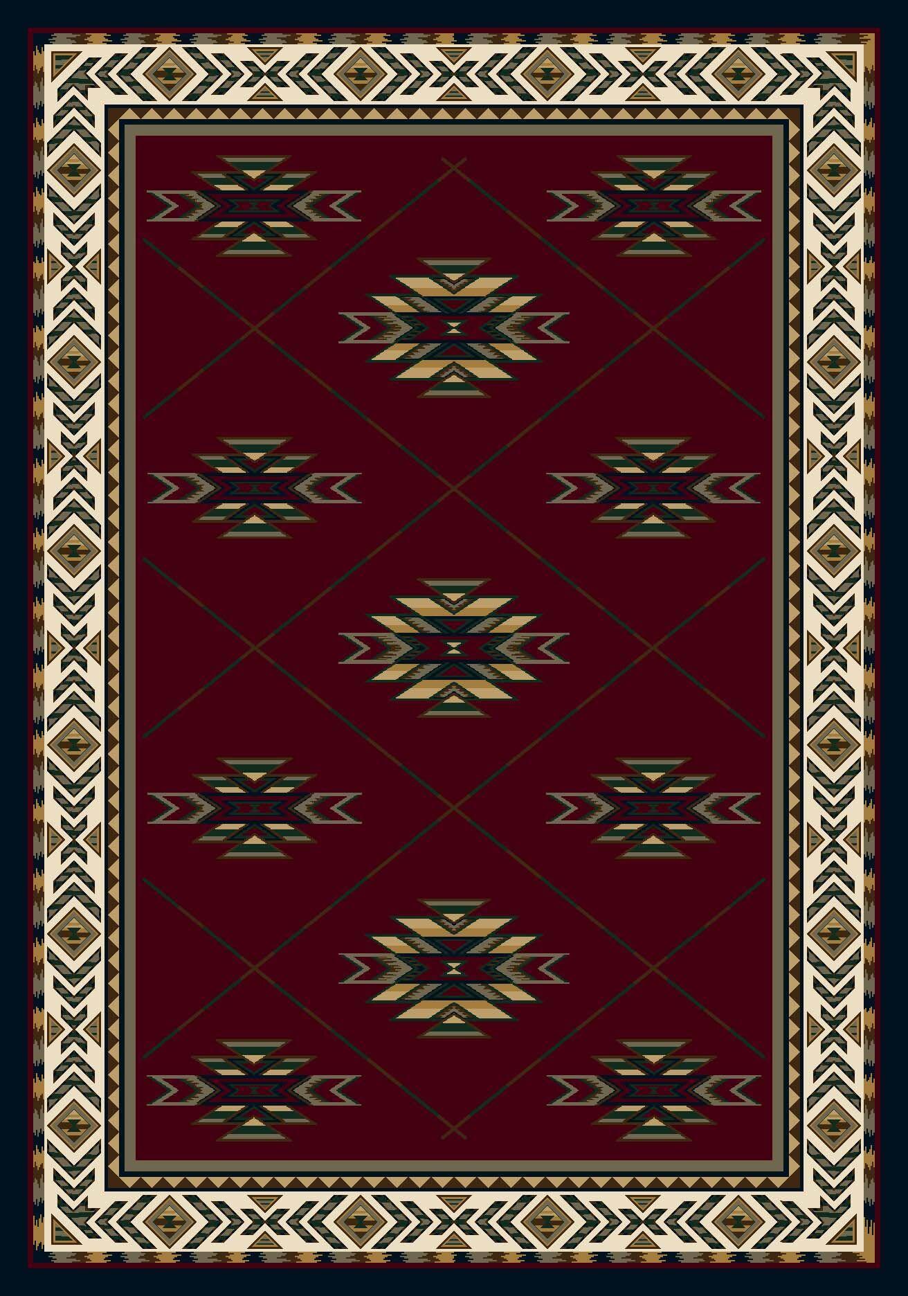 Signature Shiba Garnet Sapphire Area Rug Rug Size: Square 7'7
