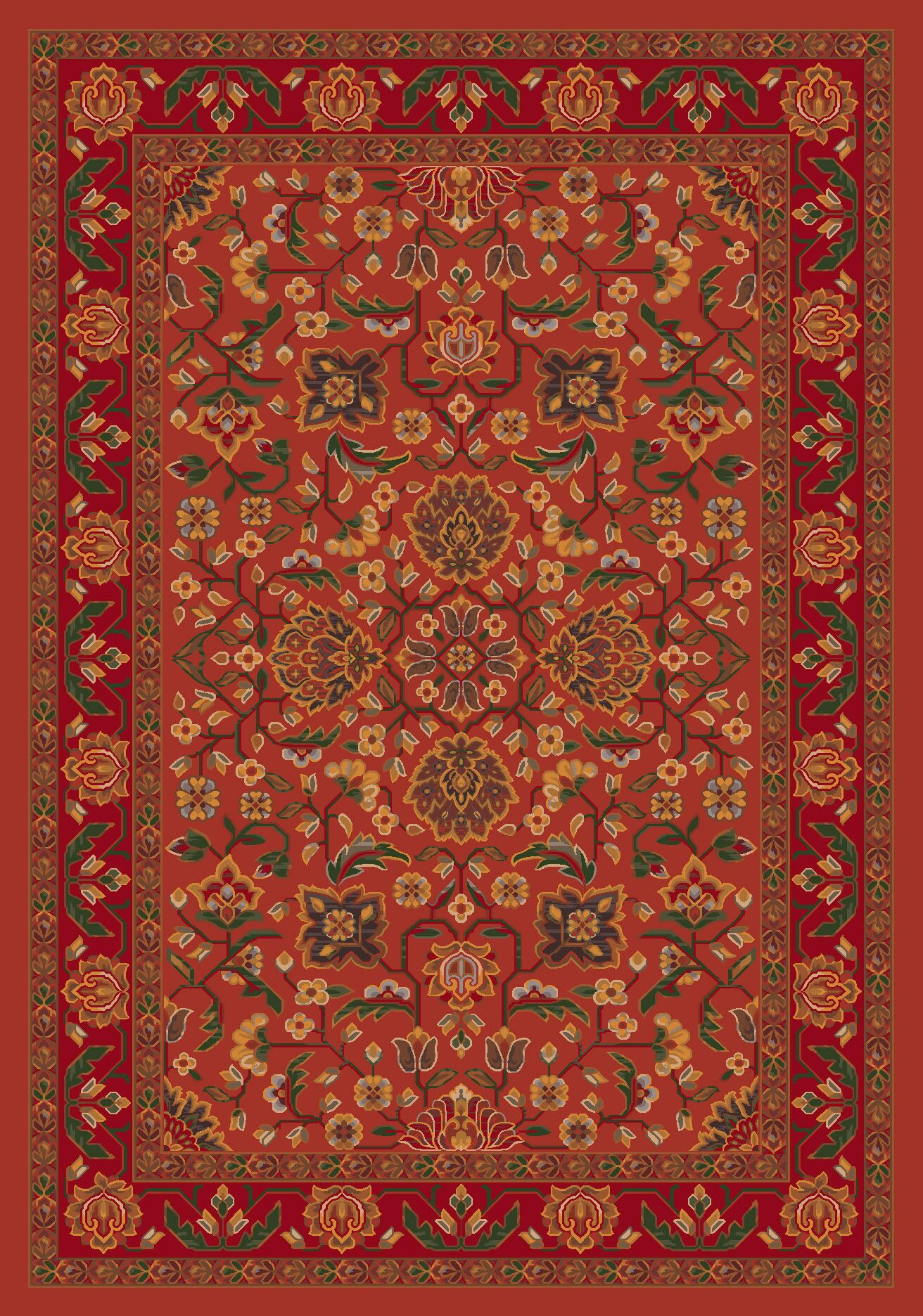 Pastiche Abadan Titian Rug Rug Size: Rectangle 2'1