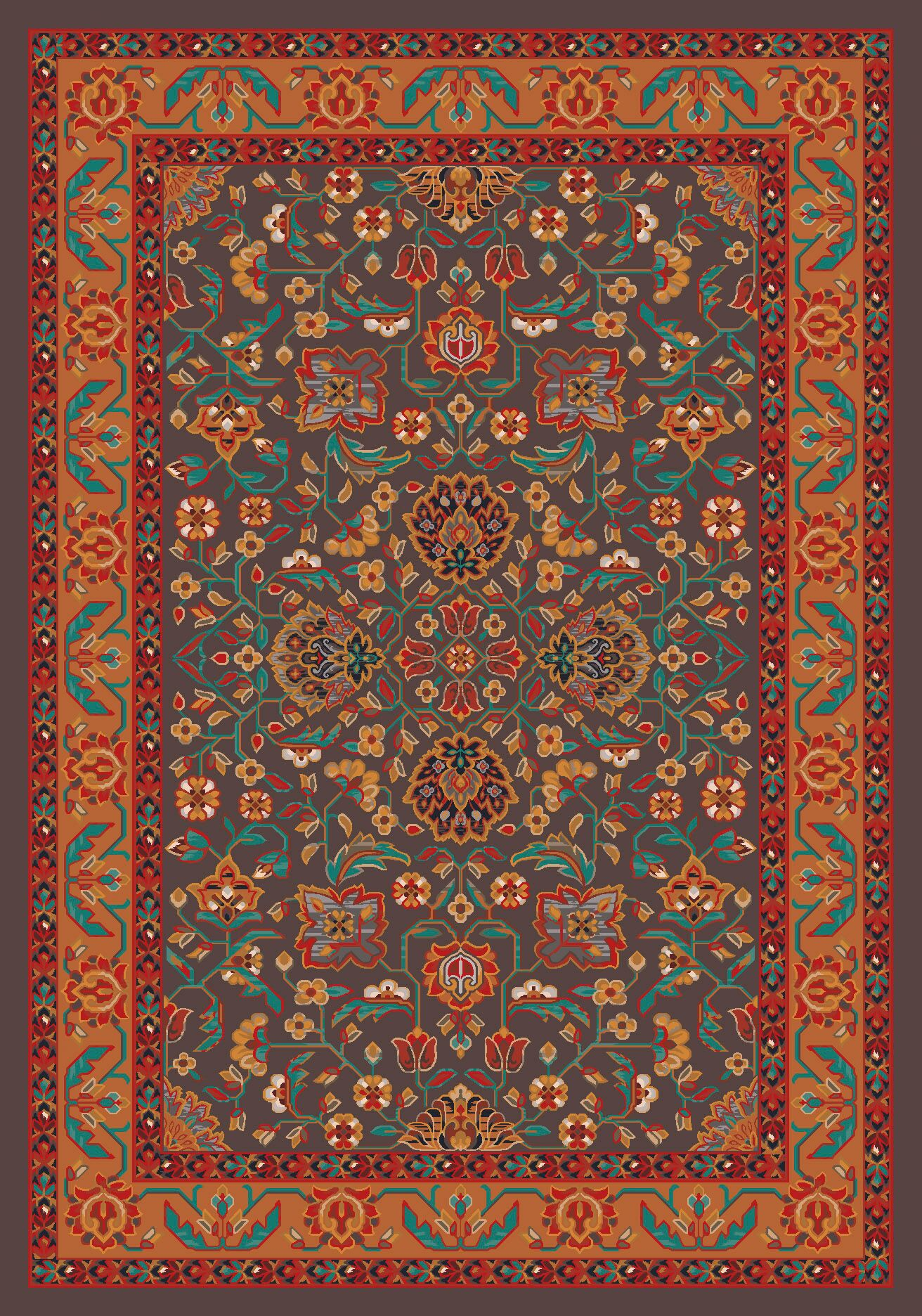 Pastiche Abadan Tin Roof Grey Rug Rug Size: Rectangle 7'8