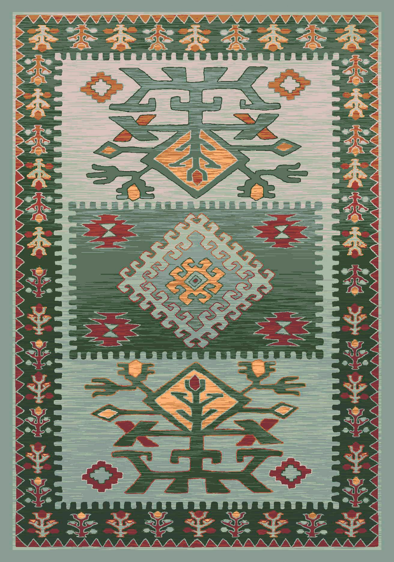 Pastiche Ahvas Ireland Rug Rug Size: Octagon 7'7