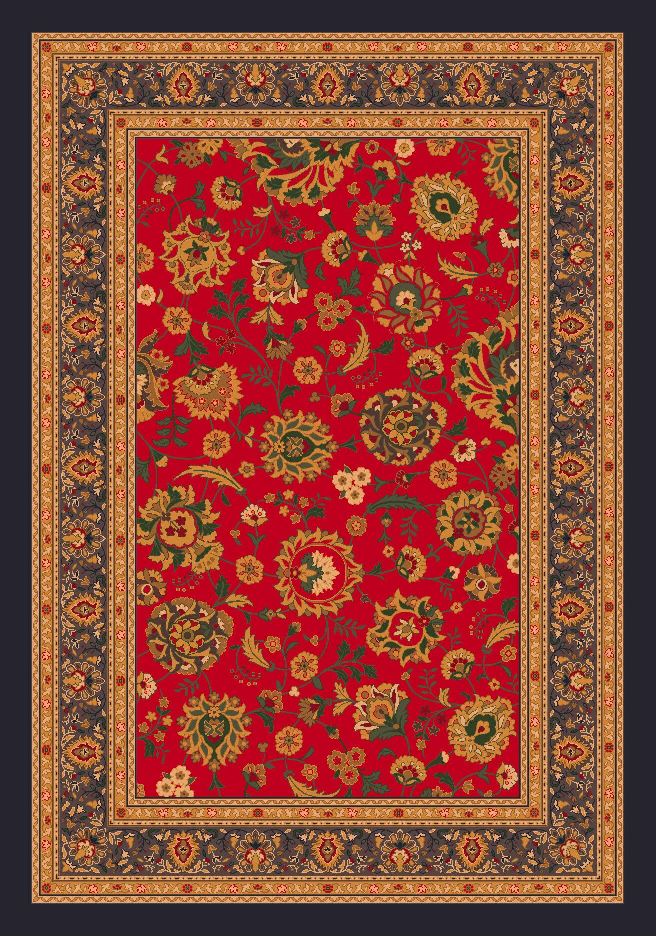 Pastiche Aydin Currant Red Rug Rug Size: Rectangle 10'9