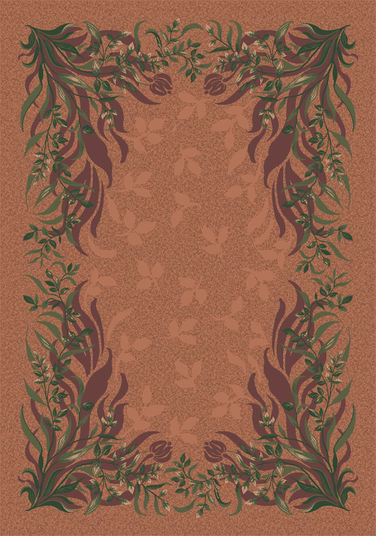 Pastiche Baskerville Sorrel Brown Area Rug Rug Size: Rectangle 7'8