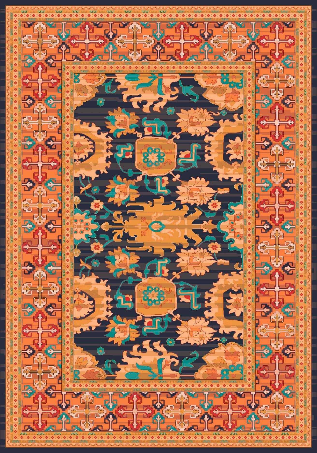 Pastiche Karshi Smog Rug Rug Size: Rectangle 5'4