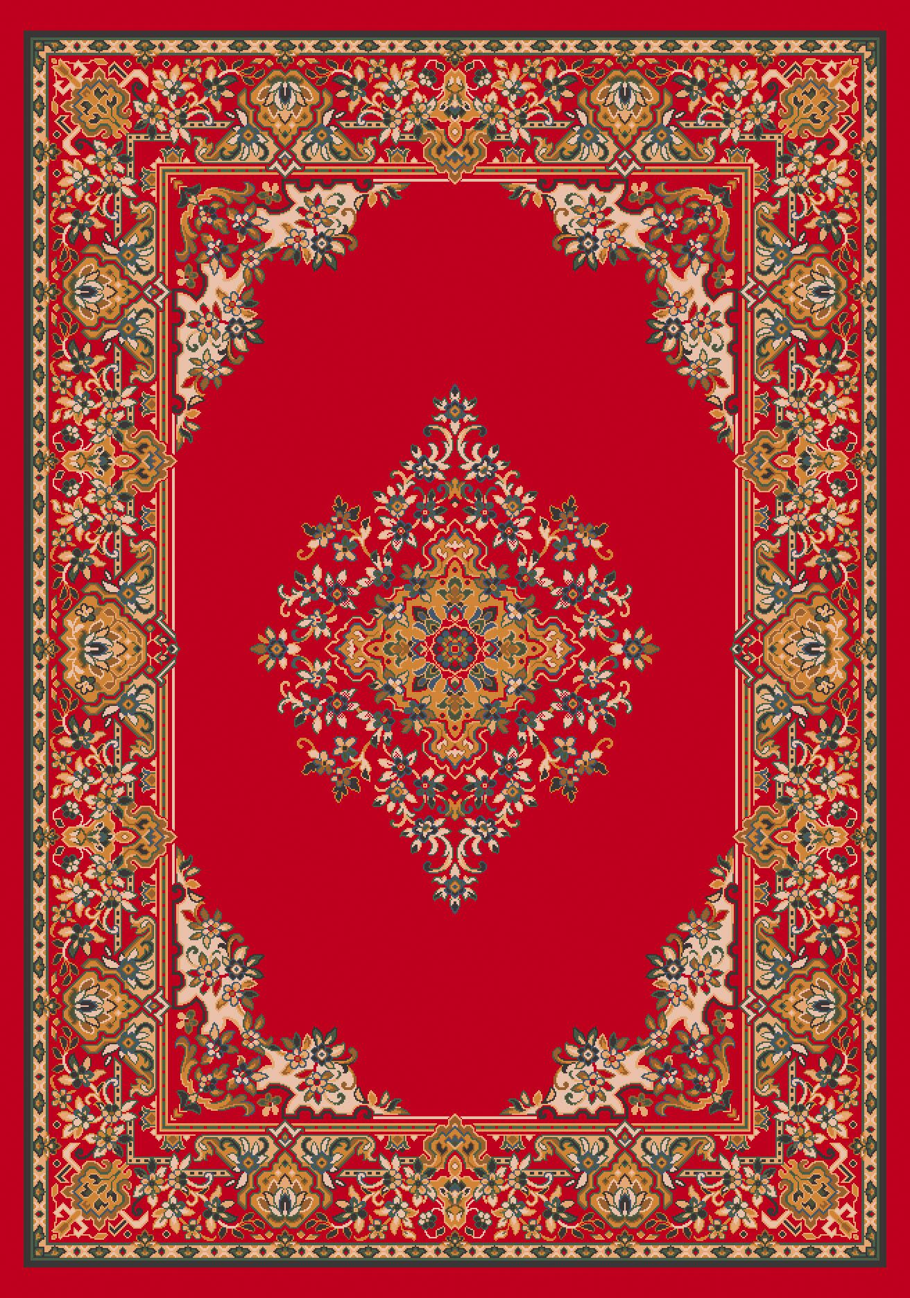Pastiche Merkez Currant Red Area Rug Rug Size: Oval 7'8