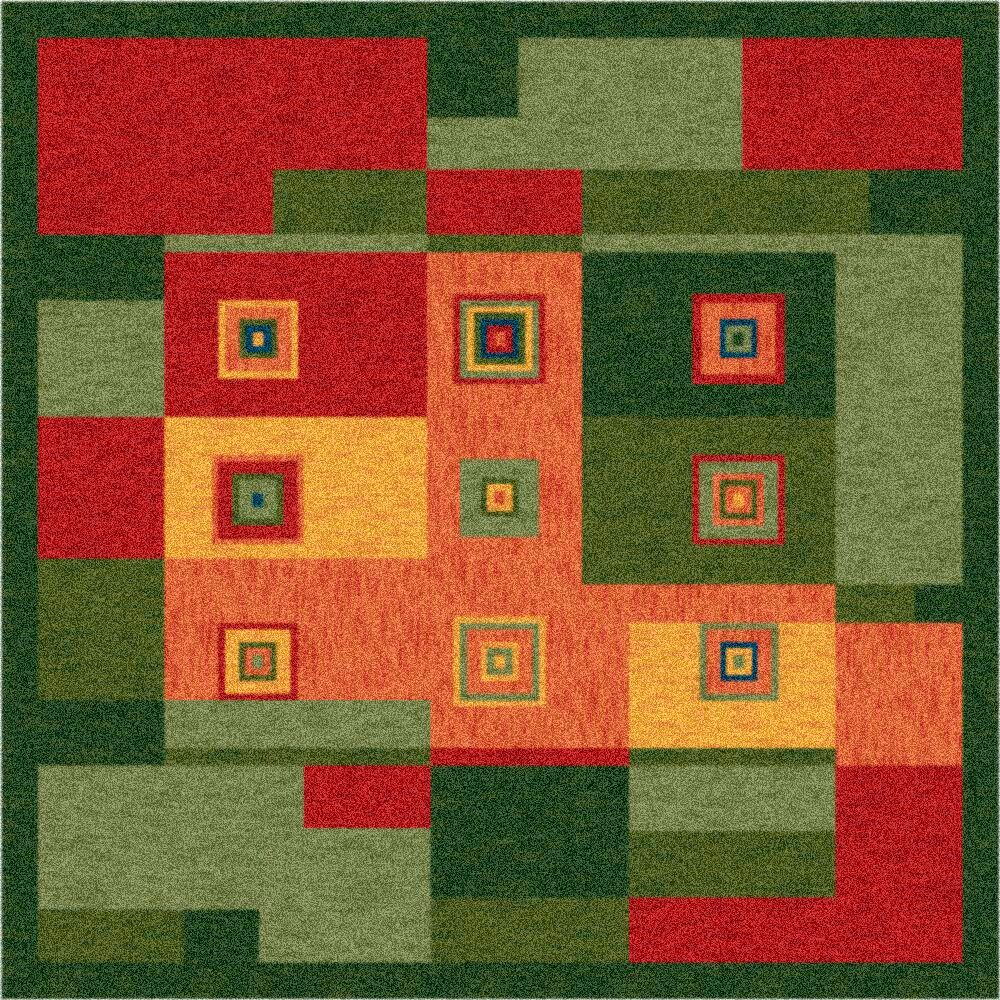 Pastiche Bloques Fiji Rug Rug Size: Rectangle 3'10