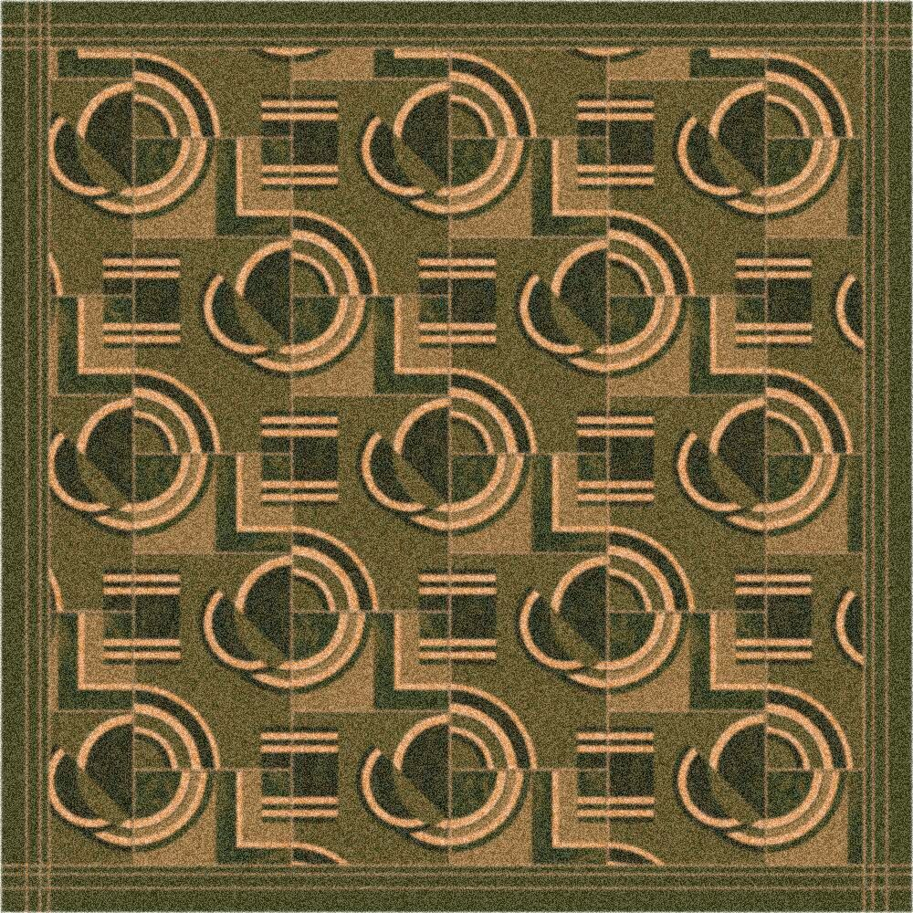 Pastiche Modernes Deep Olive Area Rug Rug Size: Square 7'7