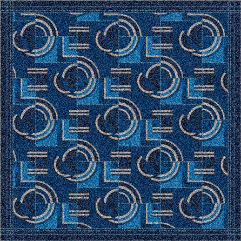 Pastiche Modernes Phantom Blue Area Rug Rug Size: Rectangle 5'4
